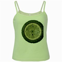Clock Celtic Knot Time Celtic Knot Green Spaghetti Tank