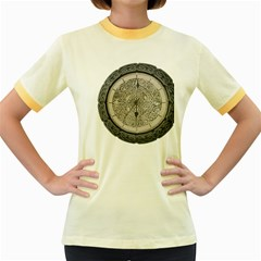 Clock Celtic Knot Time Celtic Knot Women s Fitted Ringer T Shirts