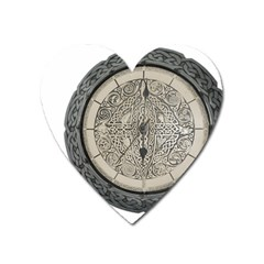 Clock Celtic Knot Time Celtic Knot Heart Magnet