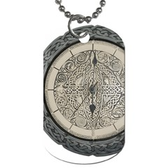 Clock Celtic Knot Time Celtic Knot Dog Tag (one Side)