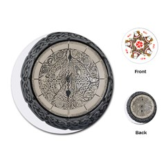 Clock Celtic Knot Time Celtic Knot Playing Cards (Round)