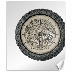 Clock Celtic Knot Time Celtic Knot Canvas 8  X 10