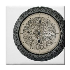 Clock Celtic Knot Time Celtic Knot Face Towel