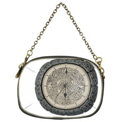 Clock Celtic Knot Time Celtic Knot Chain Purses (one Side)