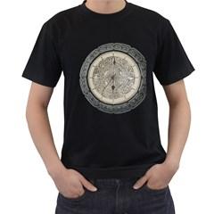 Clock Celtic Knot Time Celtic Knot Men s T Shirt (black)