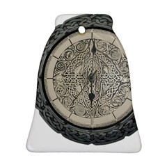 Clock Celtic Knot Time Celtic Knot Bell Ornament (Two Sides)