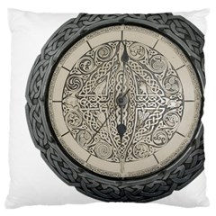 Clock Celtic Knot Time Celtic Knot Large Cushion Case (One Side)