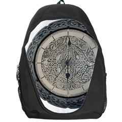 Clock Celtic Knot Time Celtic Knot Backpack Bag