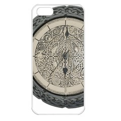 Clock Celtic Knot Time Celtic Knot Apple Iphone 5 Seamless Case (white)