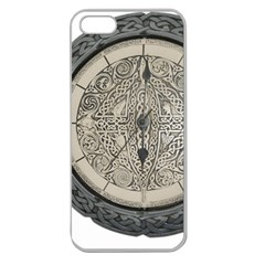 Clock Celtic Knot Time Celtic Knot Apple Seamless Iphone 5 Case (clear)
