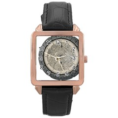 Clock Celtic Knot Time Celtic Knot Rose Gold Leather Watch