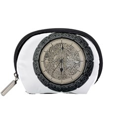 Clock Celtic Knot Time Celtic Knot Accessory Pouches (small)