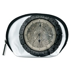 Clock Celtic Knot Time Celtic Knot Accessory Pouches (medium)