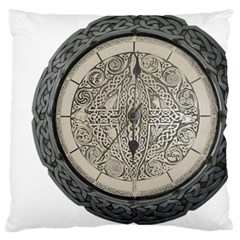 Clock Celtic Knot Time Celtic Knot Standard Flano Cushion Case (One Side)
