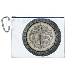 Clock Celtic Knot Time Celtic Knot Canvas Cosmetic Bag (XL)