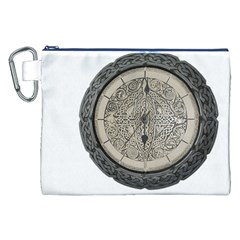 Clock Celtic Knot Time Celtic Knot Canvas Cosmetic Bag (XXL)