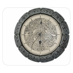 Clock Celtic Knot Time Celtic Knot Double Sided Flano Blanket (small)
