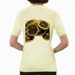 Lemon Dried Fruit Orange Isolated Women s Yellow T-Shirt Back