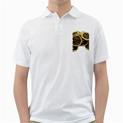 Lemon Dried Fruit Orange Isolated Golf Shirts
