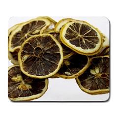 Lemon Dried Fruit Orange Isolated Large Mousepads