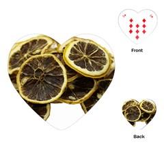 Lemon Dried Fruit Orange Isolated Playing Cards (heart)