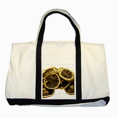 Lemon Dried Fruit Orange Isolated Two Tone Tote Bag
