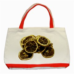 Lemon Dried Fruit Orange Isolated Classic Tote Bag (red)