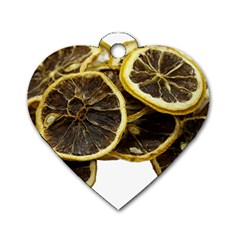Lemon Dried Fruit Orange Isolated Dog Tag Heart (one Side)
