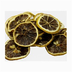 Lemon Dried Fruit Orange Isolated Small Glasses Cloth (2-Side)