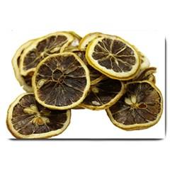 Lemon Dried Fruit Orange Isolated Large Doormat