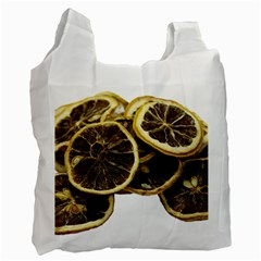 Lemon Dried Fruit Orange Isolated Recycle Bag (two Side)