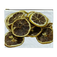 Lemon Dried Fruit Orange Isolated Cosmetic Bag (xl)