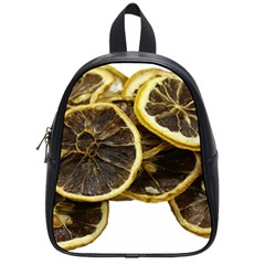 Lemon Dried Fruit Orange Isolated School Bags (Small)
