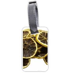 Lemon Dried Fruit Orange Isolated Luggage Tags (one Side)