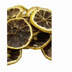 Lemon Dried Fruit Orange Isolated Large Garden Flag (two Sides)