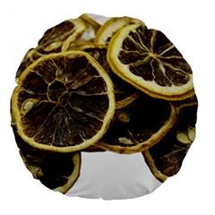 Lemon Dried Fruit Orange Isolated Large 18  Premium Round Cushions
