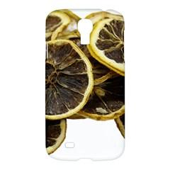 Lemon Dried Fruit Orange Isolated Samsung Galaxy S4 I9500/i9505 Hardshell Case