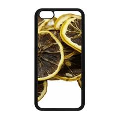 Lemon Dried Fruit Orange Isolated Apple Iphone 5c Seamless Case (black)