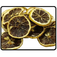 Lemon Dried Fruit Orange Isolated Double Sided Fleece Blanket (medium)