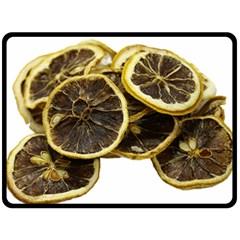 Lemon Dried Fruit Orange Isolated Double Sided Fleece Blanket (large)