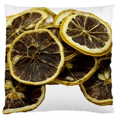 Lemon Dried Fruit Orange Isolated Large Flano Cushion Case (two Sides)