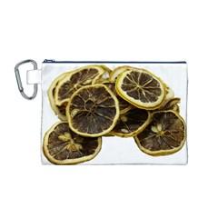 Lemon Dried Fruit Orange Isolated Canvas Cosmetic Bag (M)