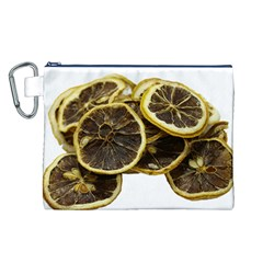 Lemon Dried Fruit Orange Isolated Canvas Cosmetic Bag (l)