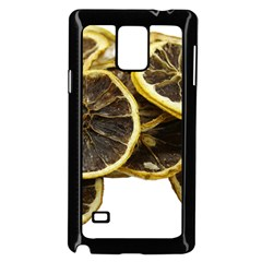 Lemon Dried Fruit Orange Isolated Samsung Galaxy Note 4 Case (black)