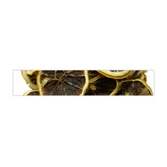 Lemon Dried Fruit Orange Isolated Flano Scarf (mini)