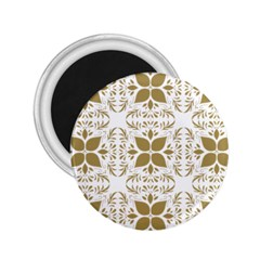 Pattern Gold Floral Texture Design 2 25  Magnets