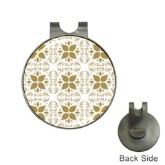 Pattern Gold Floral Texture Design Hat Clips With Golf Markers
