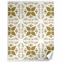 Pattern Gold Floral Texture Design Canvas 12  X 16