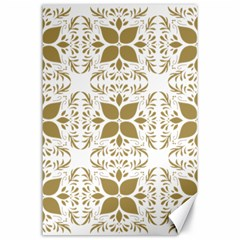 Pattern Gold Floral Texture Design Canvas 24  X 36