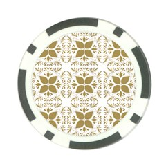 Pattern Gold Floral Texture Design Poker Chip Card Guard